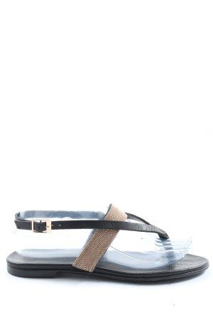 Inuovo Dianette sandalen zwart-goud casual uitstraling