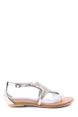 Inuovo Sandalo Dianette argento stile casual