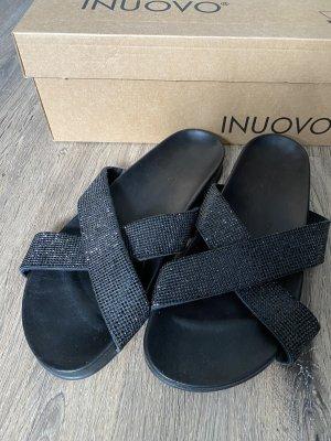 Inuovo Sandały plażowe czarny Skóra