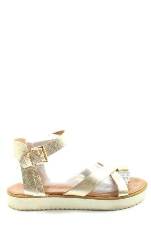 Inuovo Sandalias cómodas color oro look efecto mojado