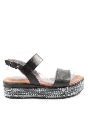 Inuovo Komfort-Sandalen schwarz Casual-Look