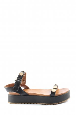 Inuovo Plateau-Sandalen schwarz Casual-Look
