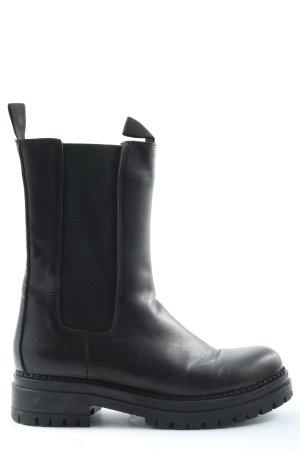Inuovo Reißverschluss-Stiefeletten schwarz Casual-Look