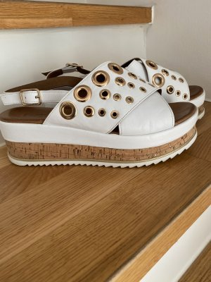 Inuovo Platform Sandals white-gold-colored