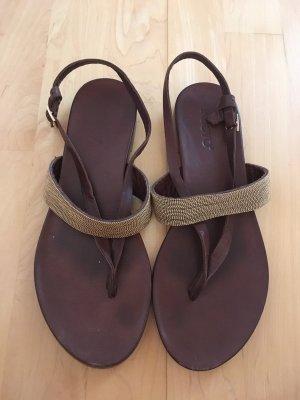 Inuovo Dianette sandalen goud-donkerbruin
