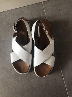 Inuovo Sandalias con plataforma blanco-marrón claro Cuero