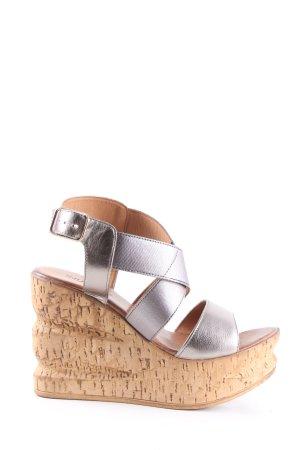 Inuovo Wedges Sandaletten silberfarben Casual-Look
