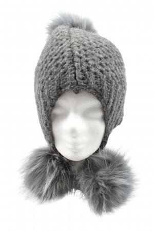 inverni Knitted Hat light grey cable stitch casual look