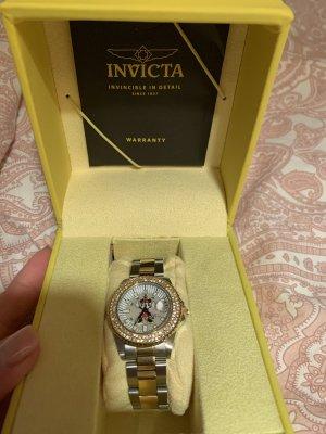 Invicta Reloj con pulsera metálica color oro-color plata
