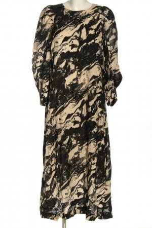 InWear Blusenkleid schwarz-creme Allover-Druck Casual-Look