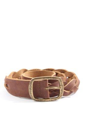 InWear Cinturón trenzado marrón look casual