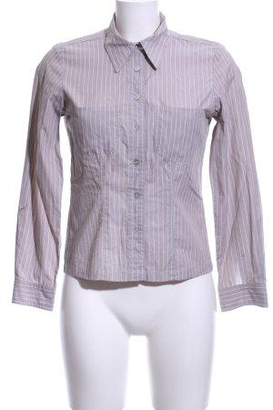 InWear Hemd-Bluse hellgrau-weiß Streifenmuster Business-Look