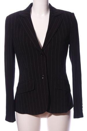 InWear Kurz-Blazer schwarz-weiß Streifenmuster Business-Look