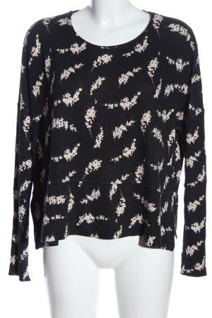 InWear Langarm-Bluse schwarz-weiß Allover-Druck Casual-Look