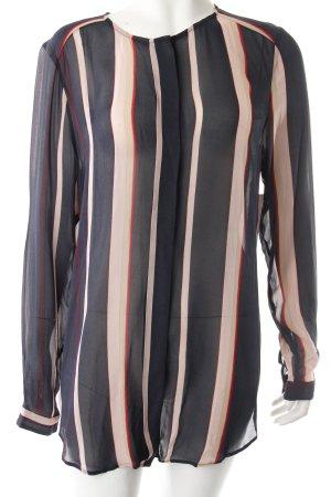 InWear Langarm-Bluse schwarz Streifenmuster