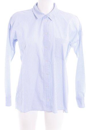 InWear Langarmhemd weiß-himmelblau Streifenmuster Business-Look