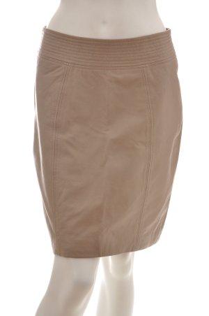 InWear Jupe en cuir gris brun-beige cuir