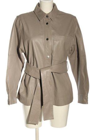 InWear Leather Shirt cream casual look