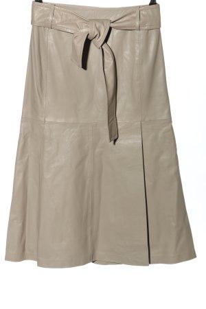 InWear Jupe en cuir blanc cassé élégant
