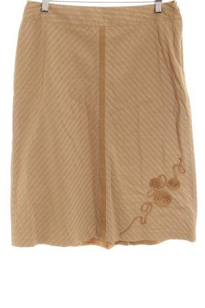 InWear Spódnica midi jasnobrązowy-szaro-brązowy Wzór w paski W stylu casual