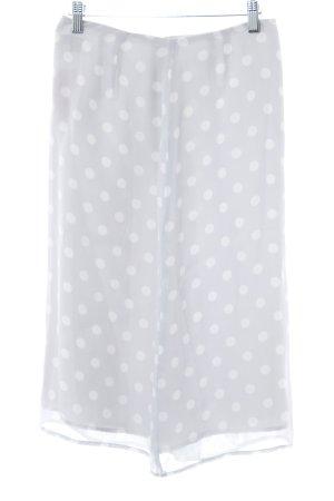 InWear Spódnica midi jasnoszary-biały Wzór w kropki W stylu casual