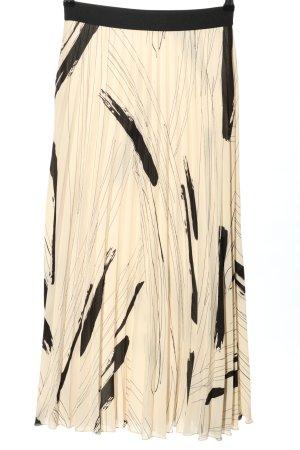 InWear Jupe plissée crème-noir motif graphique style décontracté