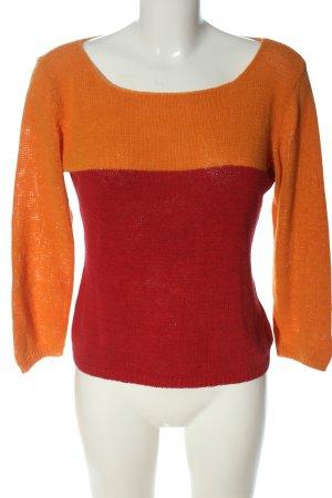 InWear Pull ras du cou orange clair-rouge style décontracté