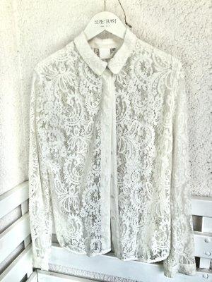 InWear Blusa de encaje blanco-blanco puro