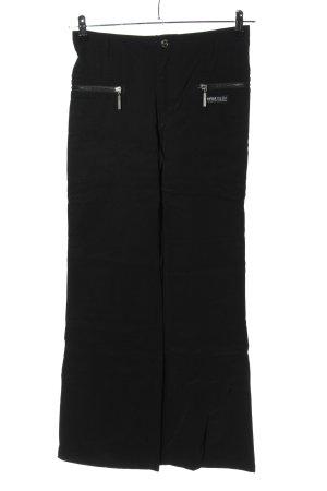 InWear Pantalon en jersey noir-blanc lettrage imprimé style décontracté