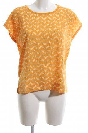 InWear T-Shirt wollweiß-hellorange Allover-Druck Casual-Look