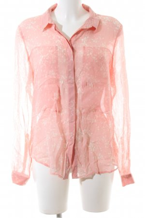 InWear Transparenz-Bluse pink-wollweiß abstraktes Muster Casual-Look