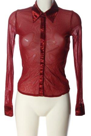 InWear Transparentna bluzka czerwony W stylu biznesowym