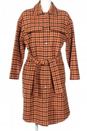 InWear Wool Coat brown-light orange mixture fibre