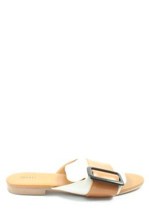 Inyati Beach Sandals nude-white street-fashion look