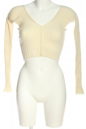 Ioannes Cropped Pullover creme Zopfmuster Casual-Look