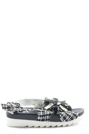 Ioannis Sandalo comodo nero-bianco stampa integrale stile casual