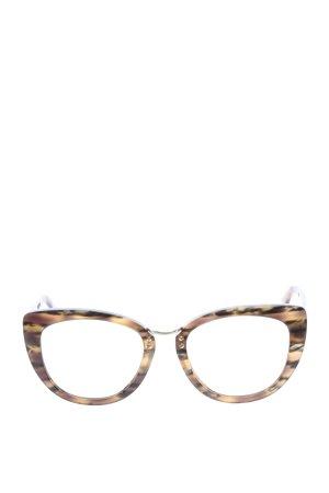 iOLANi Okulary motylki brązowy-bladożółty W stylu casual