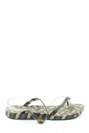 Ipanema Flip-Flop Sandals khaki-gold-colored graphic pattern casual look