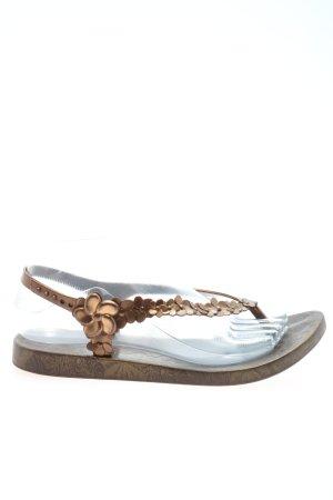 Ipanema Flip Flop Sandalen bronzefarben Blumenmuster Casual-Look