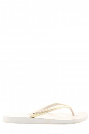 Ipanema Flip Flop Sandalen weiß-goldfarben Streifenmuster Casual-Look
