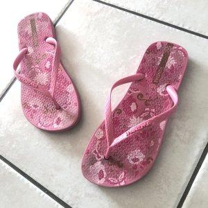 Ipanema Gr 38 pink flip Flops Sandalen Sandaletten Blumen