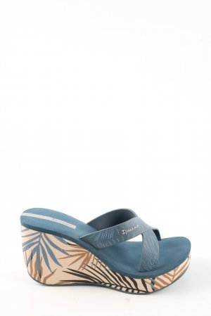 Ipanema Plateau-Sandalen blau Allover-Druck Casual-Look