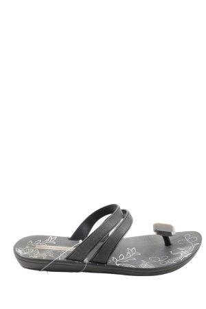 Ipanema Sandalo da spiaggia nero motivo floreale stile casual
