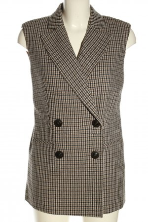 Ipekyol Waistcoat light grey-black check pattern elegant