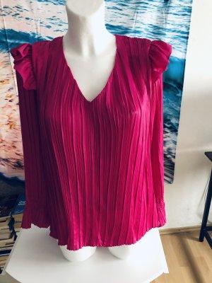Ipekyol Blusa brillante rosso lampone