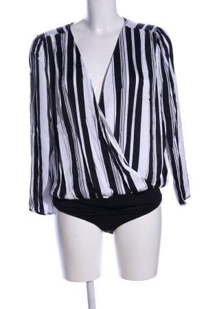 Ipekyol Blusen-Body schwarz-weiß Streifenmuster Elegant