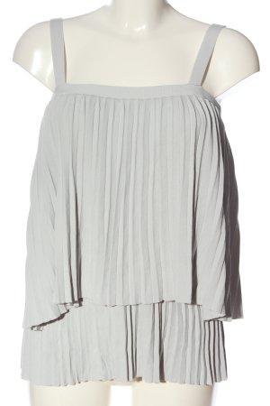 Ipekyol Camicetta con arricciature grigio chiaro motivo a righe stile casual