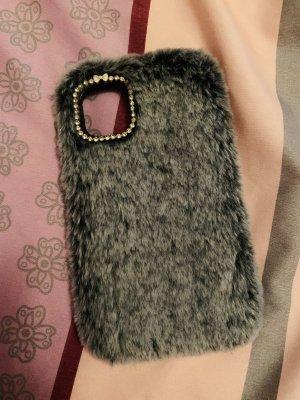 Étui pour téléphone portable gris-noir