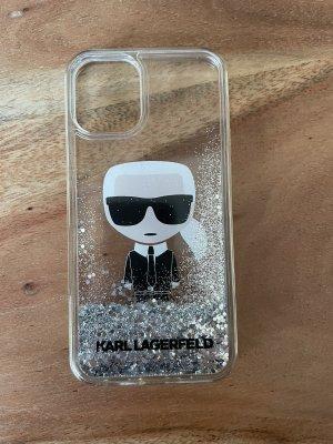 Karl Lagerfeld Hoesje voor mobiele telefoons zwart-zilver
