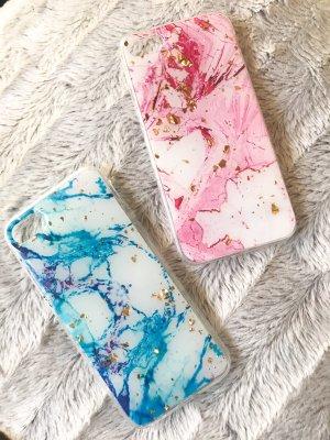 Hoesje voor mobiele telefoons roségoud-azuur